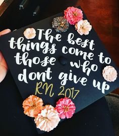 Graduation is considered as one the vital and important most ladder in a student's life. After graduation, you come up with huge reputation and this step can change your life all in once. Here are 30 graduation quotes cap. Quotes For Graduation Caps, Nursing School Graduation, Graduation Cap Designs, Graduation Cap Decoration, Graduation Diy, Grad Cap, Graduation Photoshoot, Cap Decorations, Diy Décoration