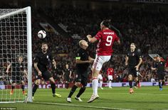 The goal ended a mini-drought for the big No 9 - he had not scored in four United games  p...