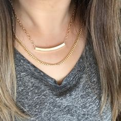 NEW! 18K GP Double Chain Gold Necklace MSRP $50 Great for everyday wear! Not too delicate and not too much of a statement piece! Brand new in box! Adjustable chain extender to make it shorter or longer. MSRP $50! NEW! Jessica Elliot Jewelry Necklaces