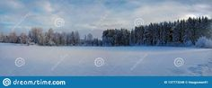Photo about Panorama photo of winter landscape in Hedmark county Norway. Colorful winter wonderland with Forest and field. Image of photo, panorama, colorful - 137773248 Winter Colors, Winter Wonderland, Norway, December, Clouds, Colorful, Stock Photos, Blue