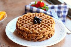 Easy, Chickpea Flour Waffles (Gluten-Free)- Sub chia egg or other egg replacer