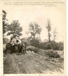 Destroyed German Tanks In France by England, via Flickr