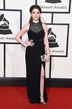 Anna Kendrick matching a beautiful #hairstyle to a gorgeous outfit during the #Grammys. She did it again! #celebrity