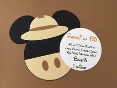 Mickey Safari, Flamingo, Ideas Para, Invitation Templates, Safari Party, 1 Year, Invitations, Cards, Room