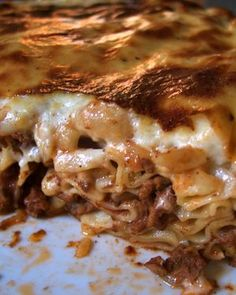 Pastitsio...one of my very favorite Greek dishes...