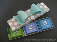 RITTER SPORT Geschenkverpackung selbstgemacht DIY Minis
