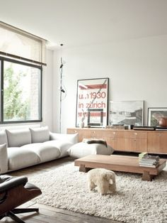 Cosmopolitan Loft With Touches Of Various Styles | DigsDigs / scandinavian / modern / vintage / living