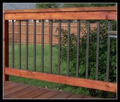 Deck railing isn't simply a security function. It can add a magnificent visual to mount a decked area or patio. These 36 deck railing ideas show you exactly how it's done! Deck Balusters, Front Porch Railings, Front Stairs, Front Deck, Balcony Railing, Front Porches, Deck Building Plans, Deck Plans, Pergola Plans