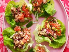 Get Pork Lettuce Wraps with Grapefruit Recipe from Food Network