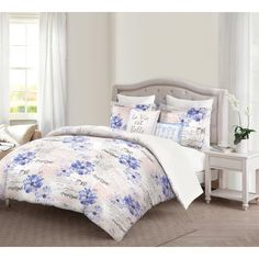 Bring a pop of color to your bedroom with this Rabia Reversible Comforter Set. This set offers contemporary and stylish prints with durable and quality fabrications that create a fashion bedding piece to last a lifetime.