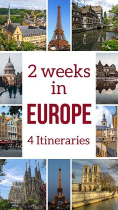 Europe Travel - plan your trip with these 4 detailed itinerary suggestions to discover Europe by Train - Including best activities, suggested places to stay, best food to try.... Plus general tips to chose and plan ahead | #Europe | Europe Bucket List | Places to visit in Europe | Europe destinations | Europe trip tips