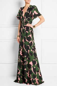Gucci   Embellished printed silk gown   NET-A-PORTER.COM