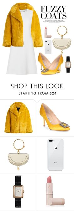 """Untitled #158"" by tiaraftm24 ❤ liked on Polyvore featuring Diane Von Furstenberg, Manolo Blahnik, Chloé, Chanel, Lipstick Queen and H&M"