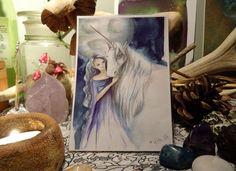 Lighting the Way mini Print/Faerie Print/Fairy by Freerangefaeries