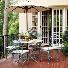 Vintage iron table and chairs