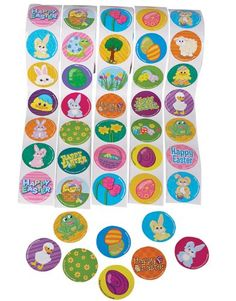 "5 Rolls ~ Easter Stickers ~ 500 Stickers Total ~ Assorted Designs ~ Approx. 1.5"" ~ New ~ Bunny, Easter Eggs. Chicks... for only $8.99 You save: $10.99 (55%)"