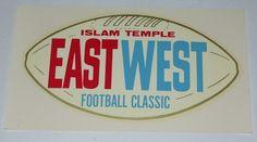 Vintage Unused East West Shrine Game Football Souvenir Decal