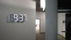 modern minimalistic digital wall White LED clock, White & White LED Clock White Edition