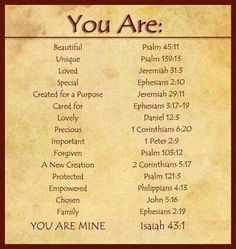 You are::