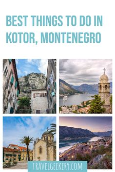 Kotor Montenegro Things to Do and Top Sights to Admire: Discover what to see and do in Kotor Old Town (UNESCO), as well as awesome day trips from Kotor to beaches and islands. See what the Bay of Kotor (Boka Kotorska) has to offer for more than just a short stay out of a cruise ship. You can easily see Kotor's best sights in a day! Incl. Kotor Fortress. Montenegro Travel | Kotor Travel Guide | Kotor Montenegro Old Town