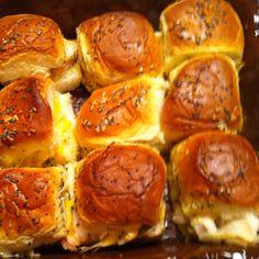 Smoked turkey sliders. Good way to use left over rolls and turkey.