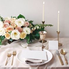 "Thanks for sharing @weddingsparrow  ""Perfect tablescape #inspiration for your #wedding day courtesy of @_esthersun styled by @sarahparkevents with calligraphy by WS fave @plumecalligraphy. Love the muted colors with a hint of blush... #WSloves #weddingideas @weddingsparrow"" 
