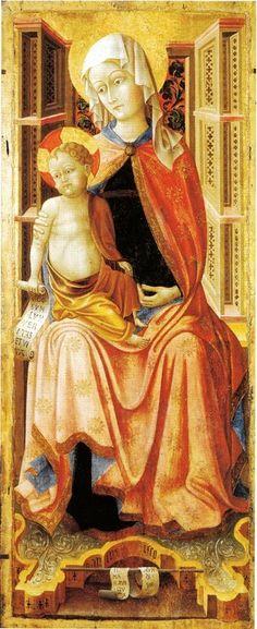 Paolo da Visso - Vergine e il Bambino - 1450 ca.  - Avignone, Musèe du Petit Palais.