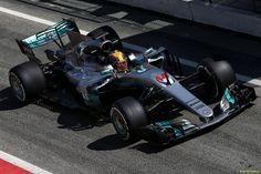 Lewis Hamilton (GBR) Mercedes AMG F1 W08.  09.03.2017. Formula One Testing, Day Three, Barcelona, Spain. Thursday