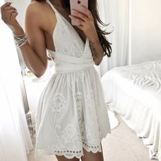 sexy homecoming dresses, little white dresses, lace homecoming dresses, backless homecoming dresses, open back homecoming dresses, short prom dresses, formal dresses, party dresses#SIMIBrdail #homecomingdresses