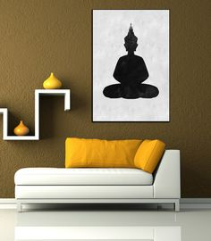 Textured Painting Canvas Art, Hand painted buddha painting, huge large abstract painting, Black and White wall decor, modern Canvas wall art