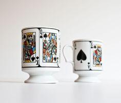 Vintage Poker Mugs