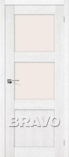 Межкомнатная дверь с эко шпоном Порта-4 ПО Argento