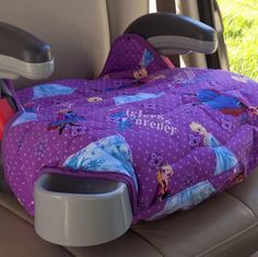 My newest Graco Turbo booster seat in the Frozen sisters prints