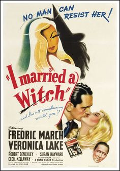 I Married a Witch (1942) starring Fredric March & Veronica Lake — illustration by Willy Pogany