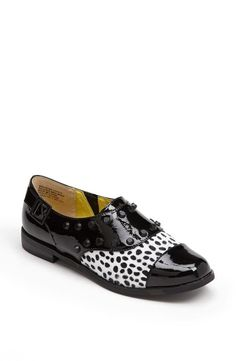 Flats for fall: faux calf hair and studs!