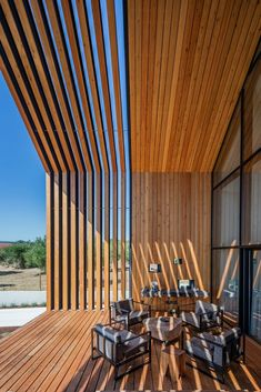 Filipe Saraiva Arquitectos has taken inspiration from the childlike idea of a house's shape to design this family home in the farmlands of Ourém, Portugal. Residential Architecture, Architecture Design, Modern Pergola, Pergola Plans, Pergola Kits, Pergola Ideas, Pergola Patio, Pergola Screens, Privacy Screen Outdoor