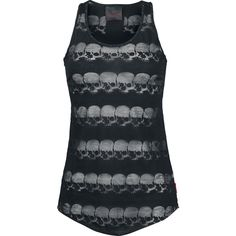 Skull Top - Girls Top by Queen Of Darkness - Article Number: 269864 - from 24.99 £ - EMP Mail Order UK Ltd. ::: The Heavy Metal Mailorder ::...