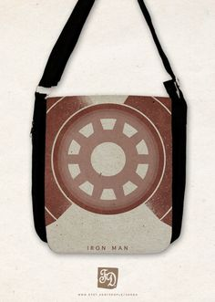 IRON MAN big shoulder bag    The Avengers by FeerieDoll on Etsy, $43.00