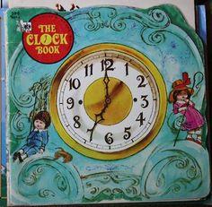 The Clock Book by Donna Kelly Shape Books, Little Golden Books, Childrens Books, Illustration Art, Clock, Shapes, Childhood, Ebay, Children's Books