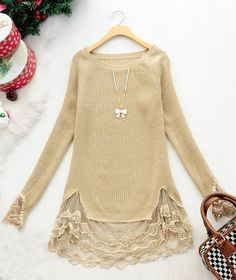 Thrift store sweater update idea.