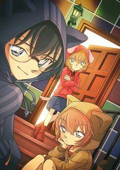 Omg how cute :3 | Detective Conan | Ai Haibara | Conan Edogawa
