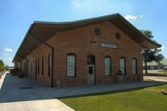 Georgia Railroad Depot Thomson GA McDuffie County Historic Restoration Photograph Copyright Brian Brown Vanishing North Georgia USA 2015