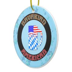 Christmas Ornament Bavarian American German. For more holiday ornaments, please check out my store: www.zazzle.com/celticana*/ #ChristmasOrnaments #ChristmasDecorations #Zazzle #BavarianAmerican