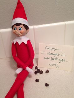 I hate when that happens. I hate when that happens. Elf Ideas Easy, Awesome Elf On The Shelf Ideas, Christmas Deco, Kids Christmas, Christmas Crafts, Christmas Activities, Christmas Traditions, Bad Elf, Elf Magic