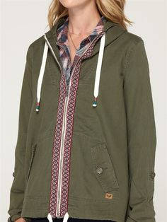 ROXY Overhaul Jacket PIN-TO-WIN hot for fall with fashion blogger @Beth J J Tauer.sleep.wear. www.roxy.com