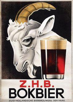 Z.H.B. Bokbier, #goat, #vintage ads