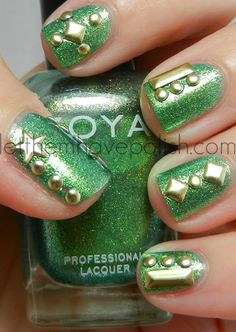 Zoya Apple Studded Nail Art from Let Them Have Polish