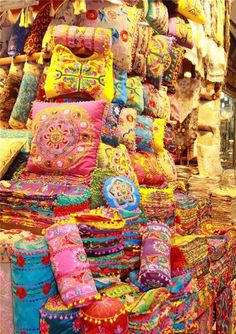 so colourful cushions Grand Bazaar /ISTANBUL