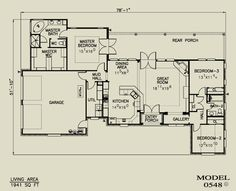 Texas home plans 3 2 less than 2000 sq ft House plans less than 1500 square feet