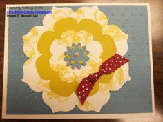 I created this card for a local Stampin' Up! demonstrator swap that I participated in.  I made 11 and got 11 different cards back in the mail.  It felt like Christmas!  You can participate in these kinds of swaps by becoming a Stampin' Up! demonstrator.  Learn more at http://brittnysmith.stampinup.net